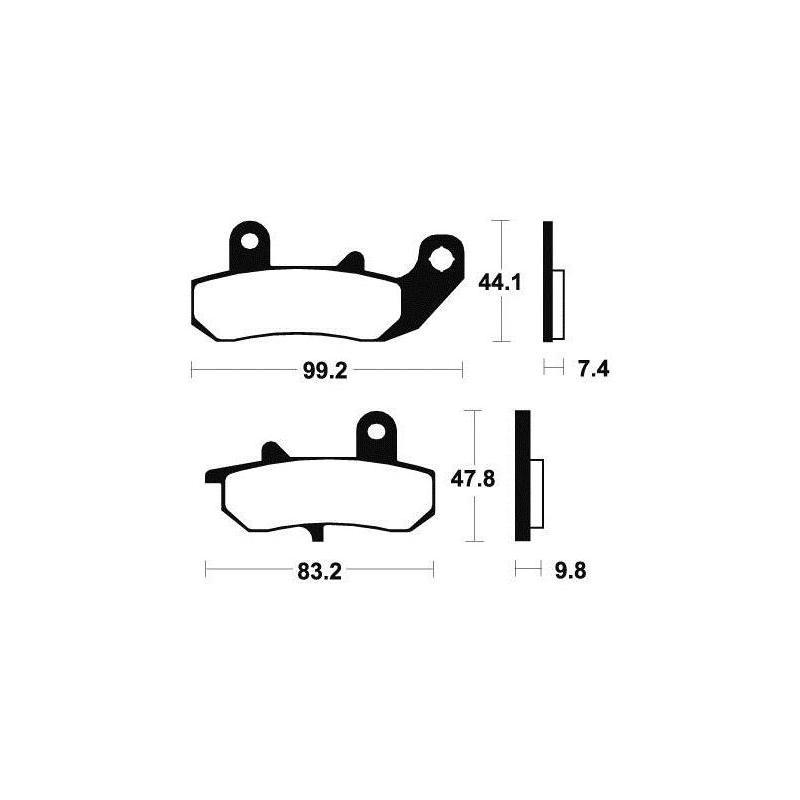Plaquettes de frein Tecnium MA135 organique