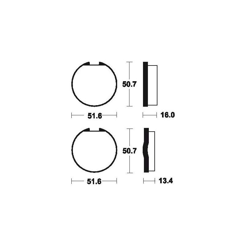 Plaquettes de frein Tecnium MA18 organique