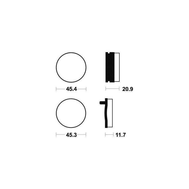 Plaquettes de frein Tecnium MA21 organique