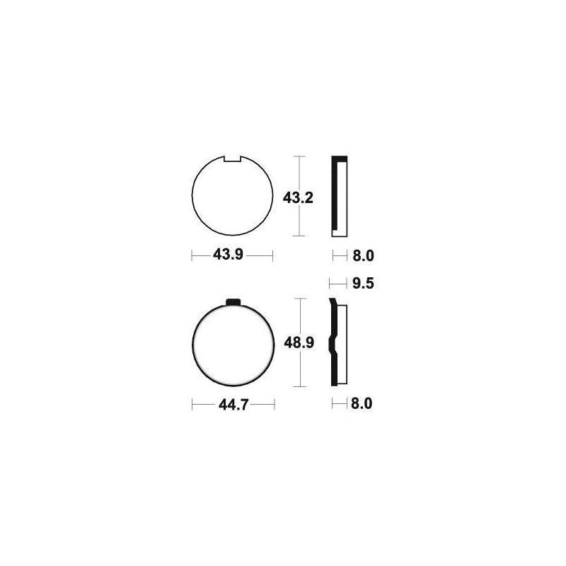 Plaquettes de frein Tecnium MA24 organique