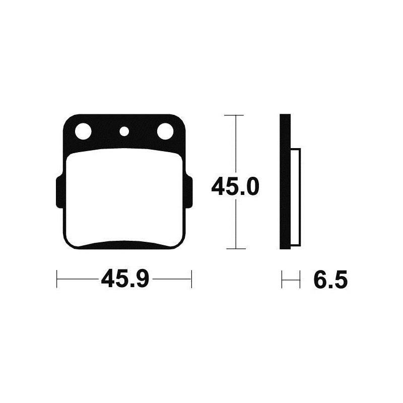 Plaquettes de frein Tecnium MA84 organique