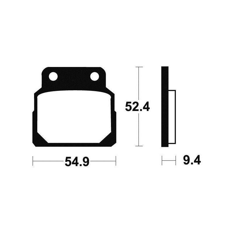 Plaquettes de frein Tecnium MA98 organique