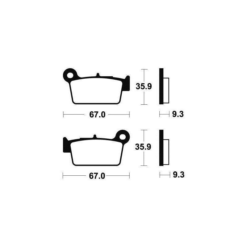 Plaquettes de frein Tecnium MO290 métal fritté