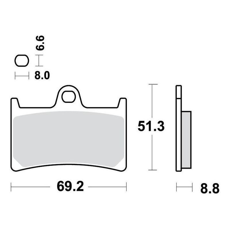 Plaquettes de frein TRW métal fritté MCB611SRT