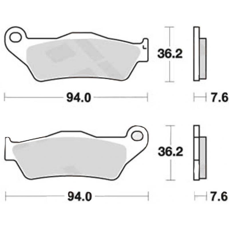 Plaquettes de frein TRW metal fritté MCB648SH