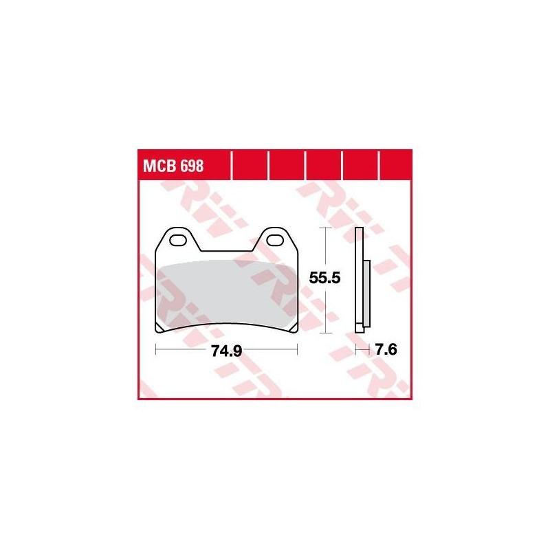 Plaquettes de frein TRW organique MCB698