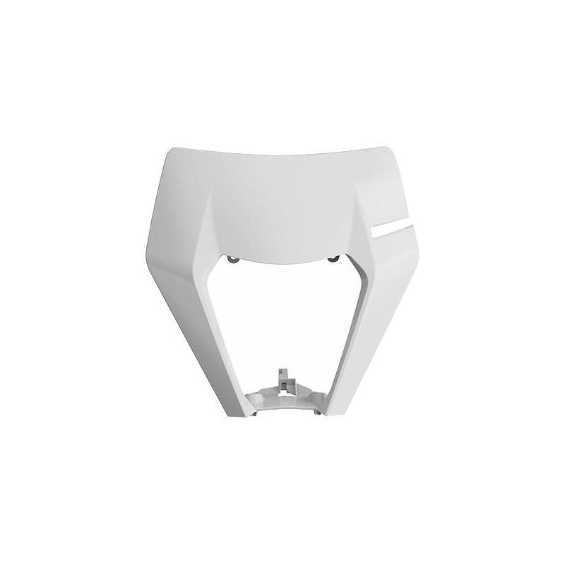 Plastique plaque phare Polisport KTM 125 EXC 2017 blanc