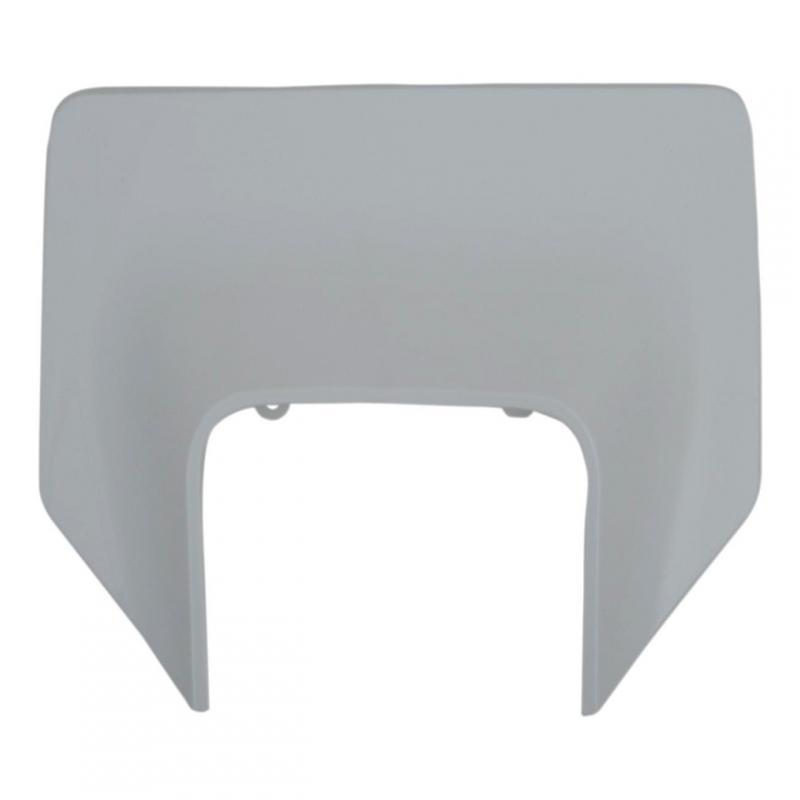 Plastique plaque phare UFO Husqvarna 125 TX 17-19 blanc