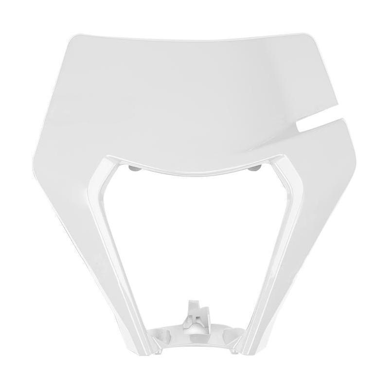 Plastique plaque phare UFO KTM 150 EXC TPI 2020 blanc