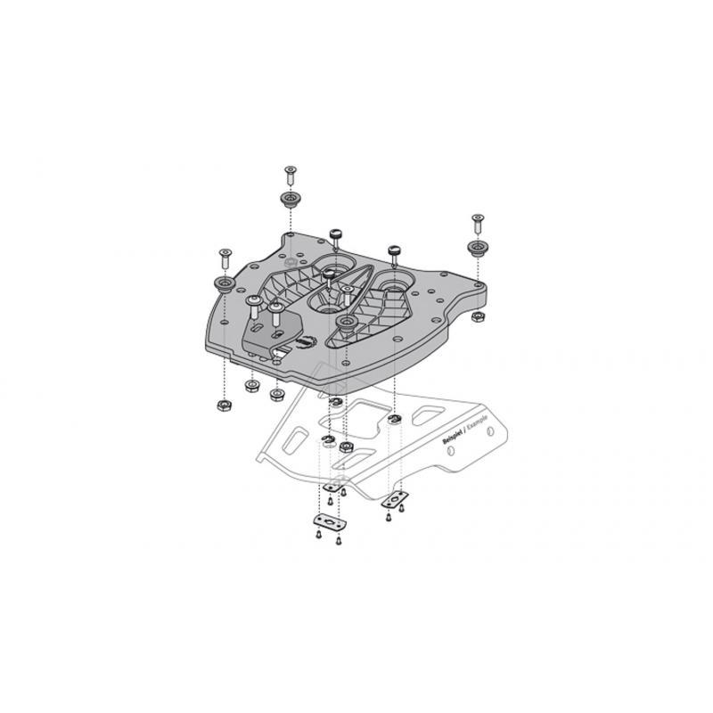 Platine SW-MOTECH QUICK-LOCK pour top case TRAX noir