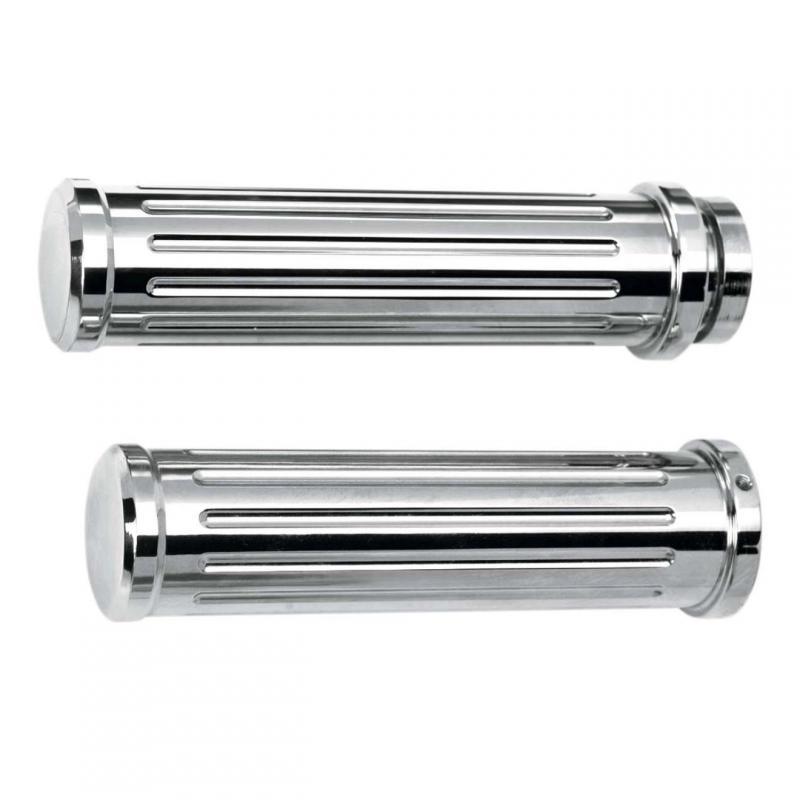 Poignées Pro-One aluminium tirage câble Twin-Cam 99-17 chrome