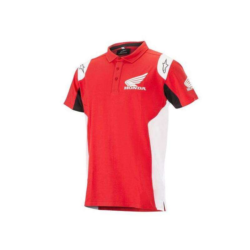 Polo Alpinestars Honda rouge