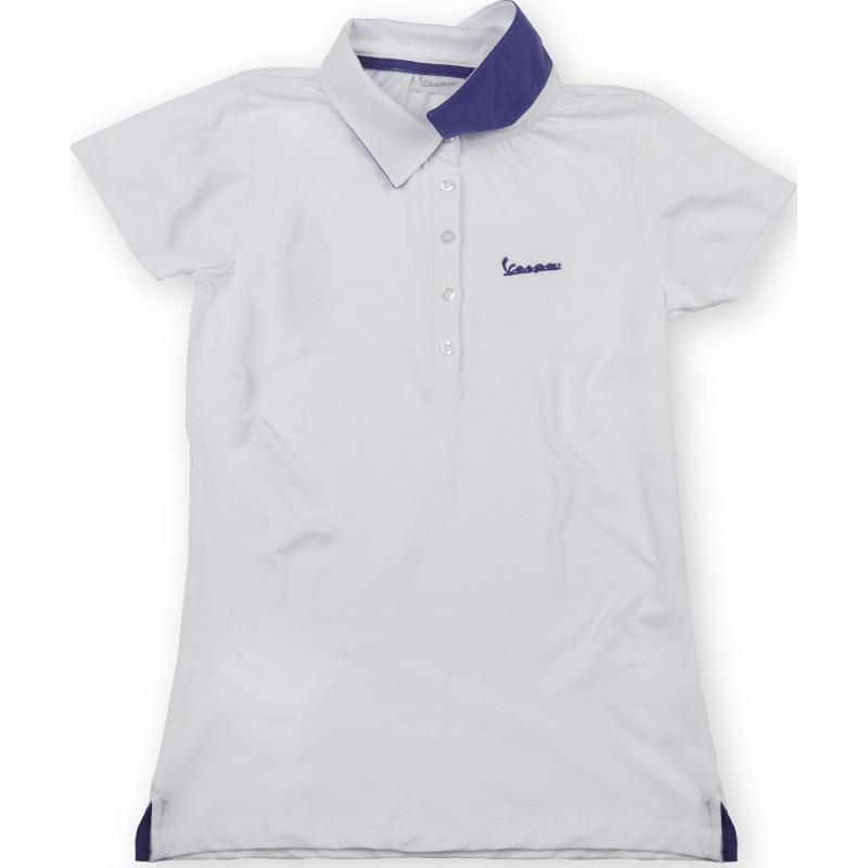 Polo femme Vespa Colours blanc