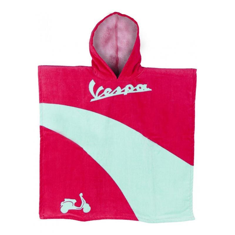 Poncho enfant Vespa rose/vert
