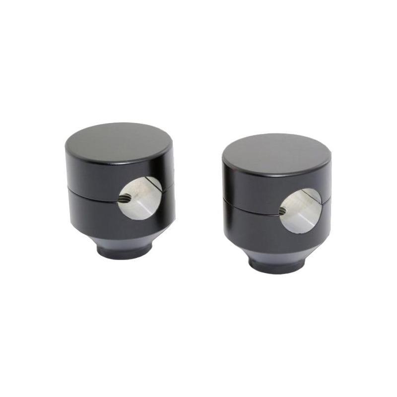 Pontet de guidon Highsider rond noir pour guidon 25 mm