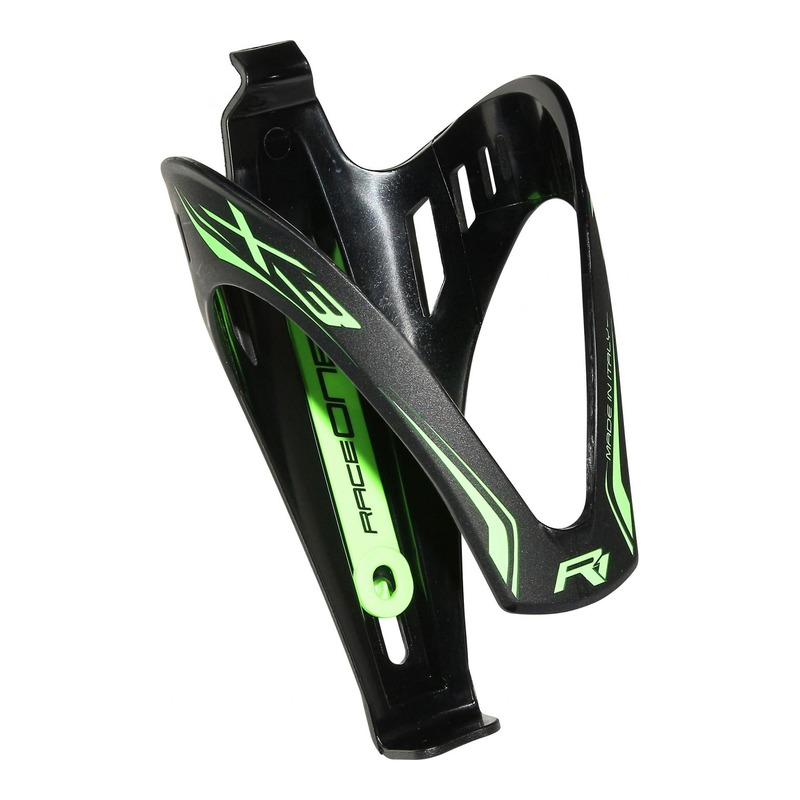Porte-bidon Race One X3 Race Mat noir/vert fluo