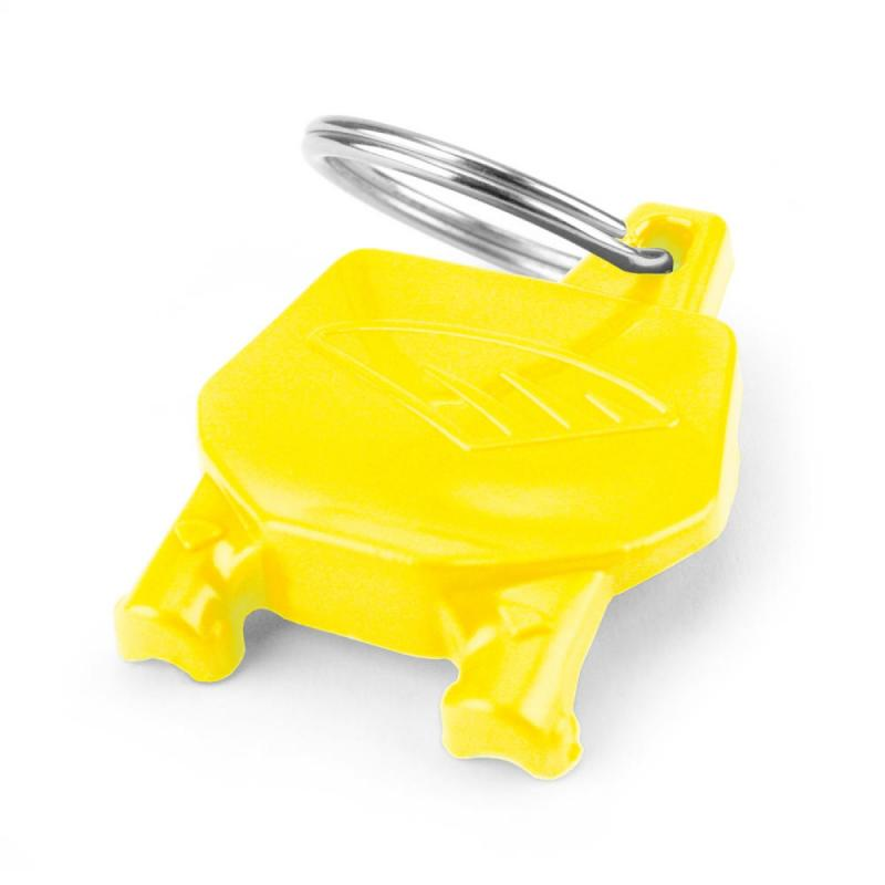 Porte-clé plaque numéro Cycra jaune