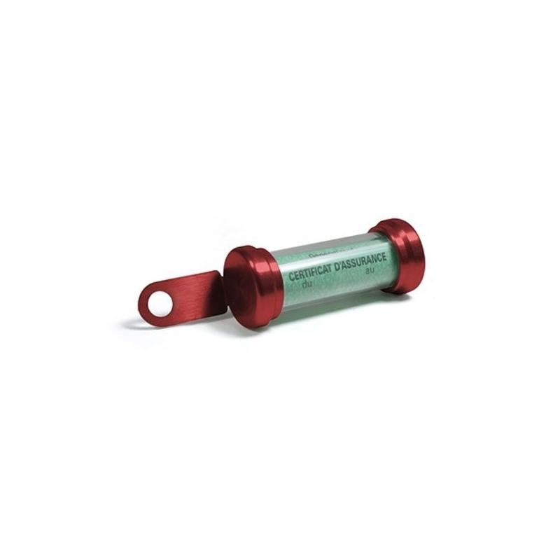 Porte vignette tube Chaft rouge