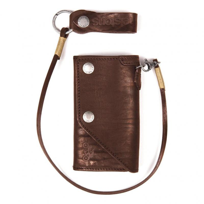 Portefeuille cuir Helstons Old Wallet marron