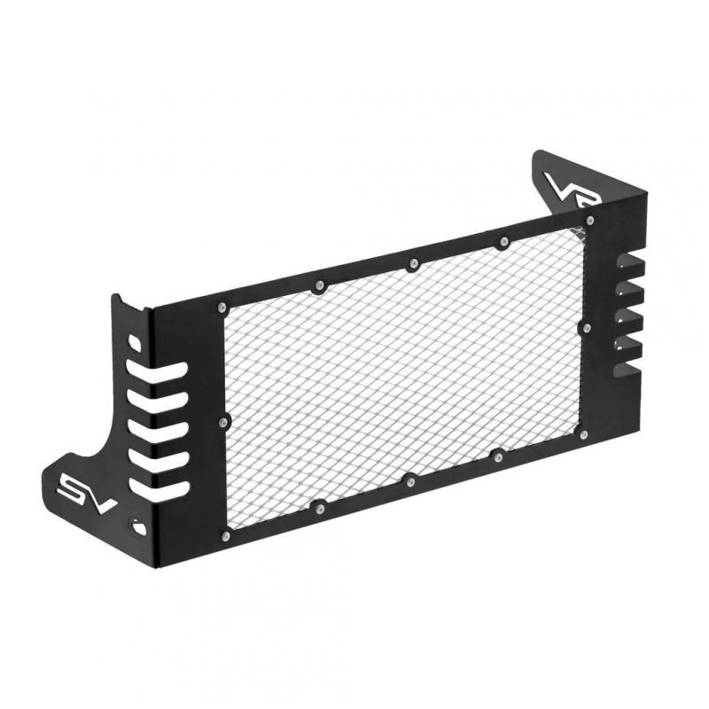 Protection de radiateur C. Racer noire grille inox pour Suzuki SV 650 2017