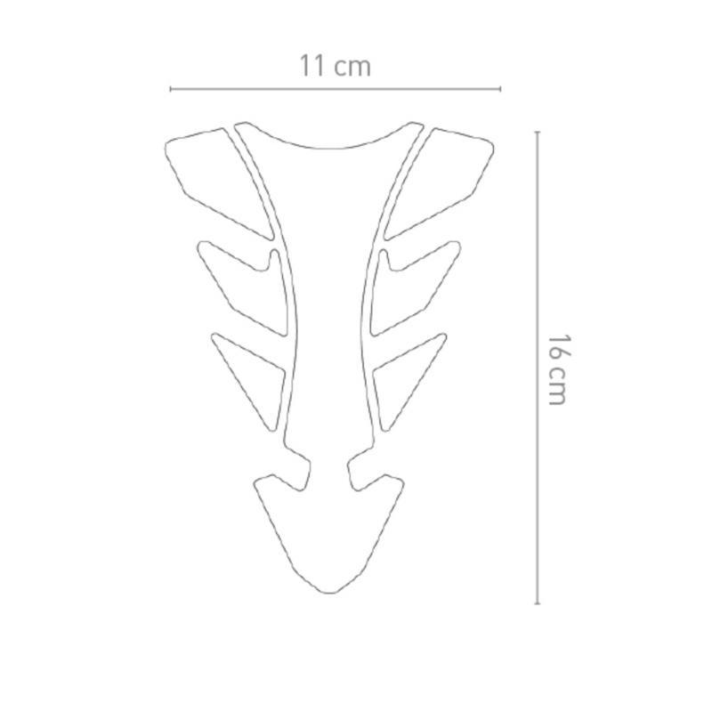 Protection de réservoir Chaft Iris transparent