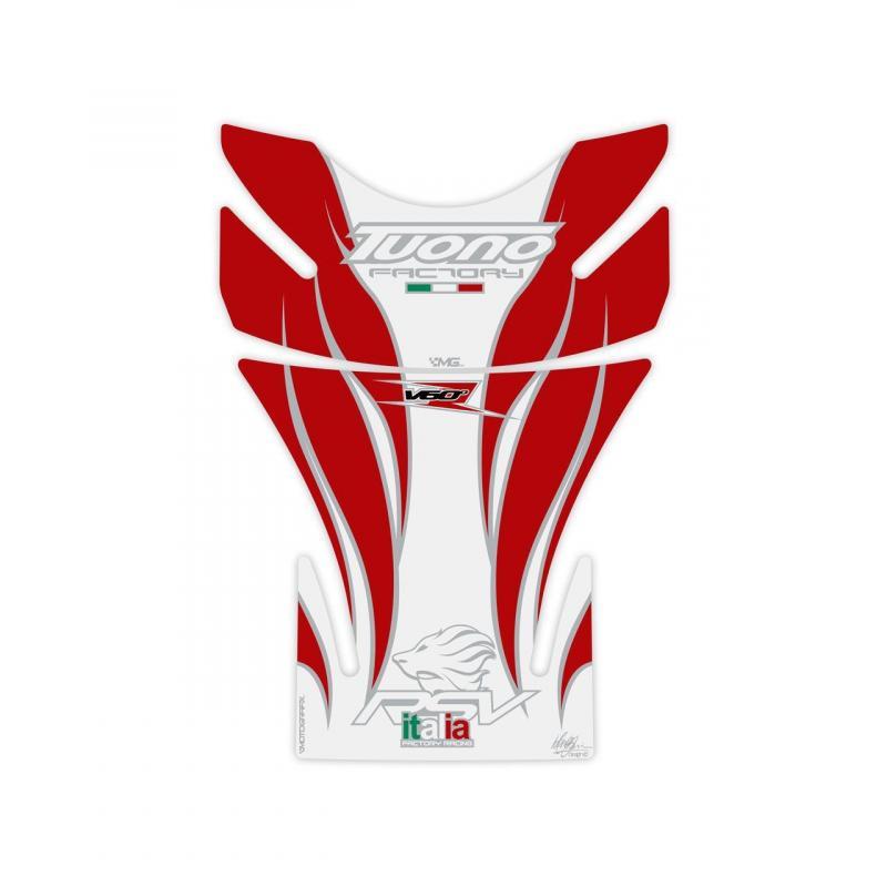 Protection de réservoir Motografix blanc/rouge Aprilia Tuono 2 pièces