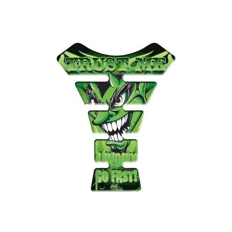 Protection de réservoir Motografix Devil vert 1 pièce