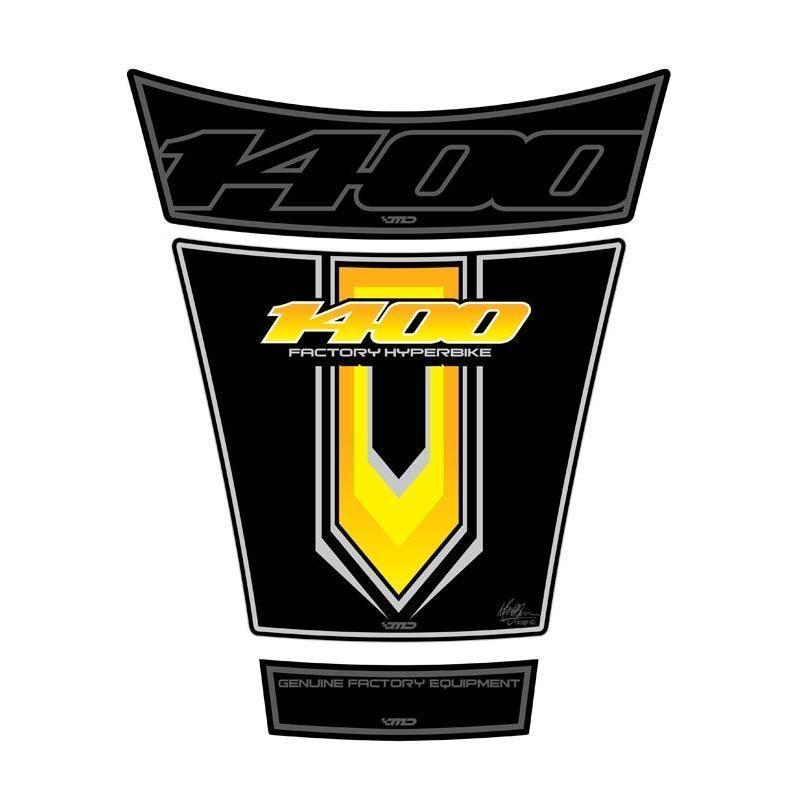 Protection de réservoir Motografix noir/jaune Suzuki GSX1400 01-07 3 pièces