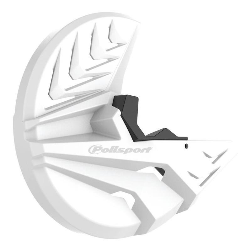 Protection disque avant + bas de fourche Polisport Honda CRF 250R 15-16 blanc