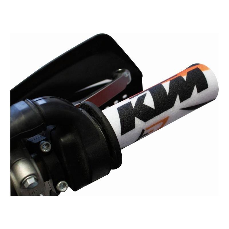 Protections de poignées Blackbird Racing KTM orange/blanc