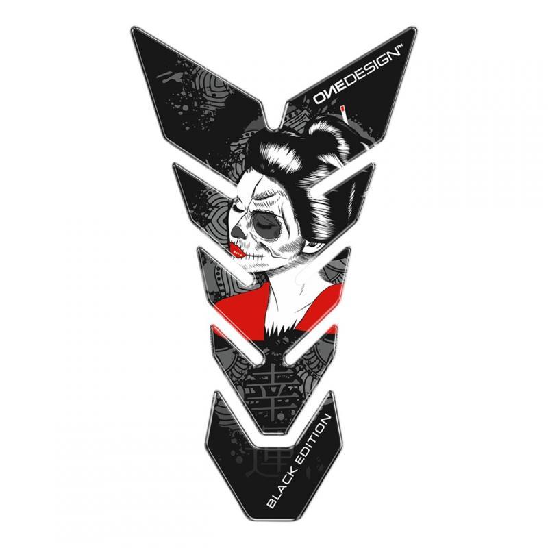 Protège réservoir Onedesign Black Edition Gheisha noir/blanc
