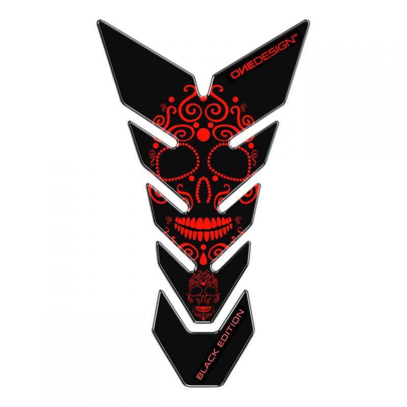Protège réservoir Onedesign Black Edition Skull noir/rouge