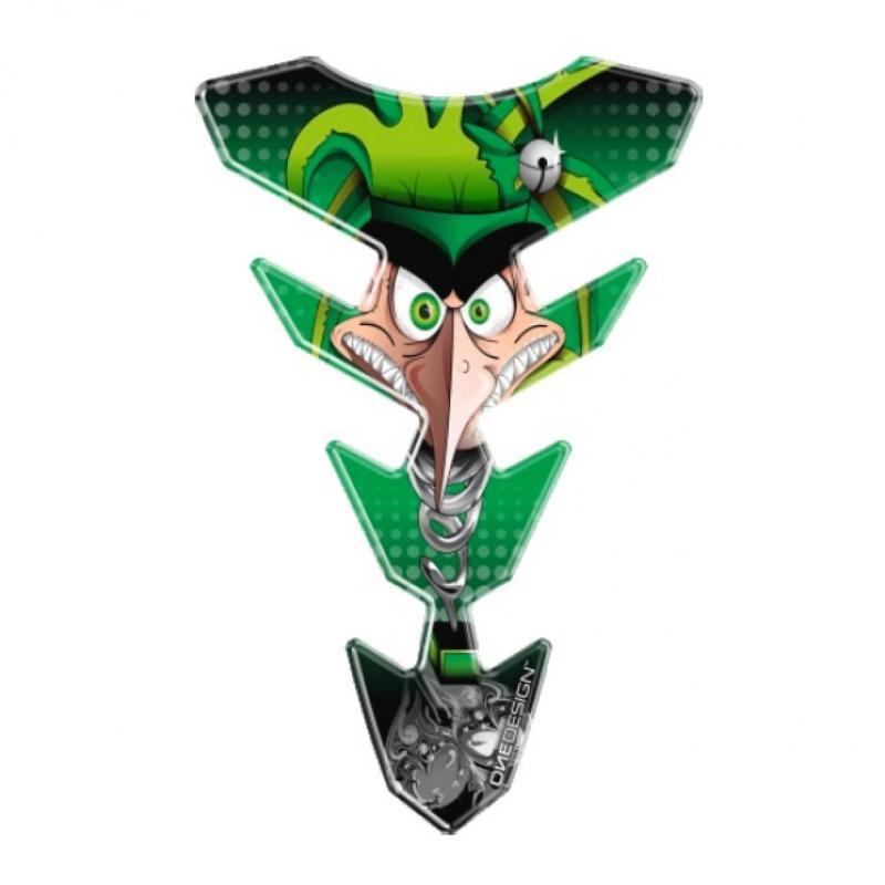 Protège réservoir Onedesign Face Design vert/noir 221 x 144 mm 1 pièce