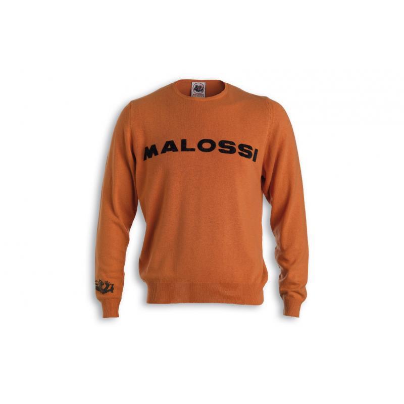 Pull Malossi griffe logo orange