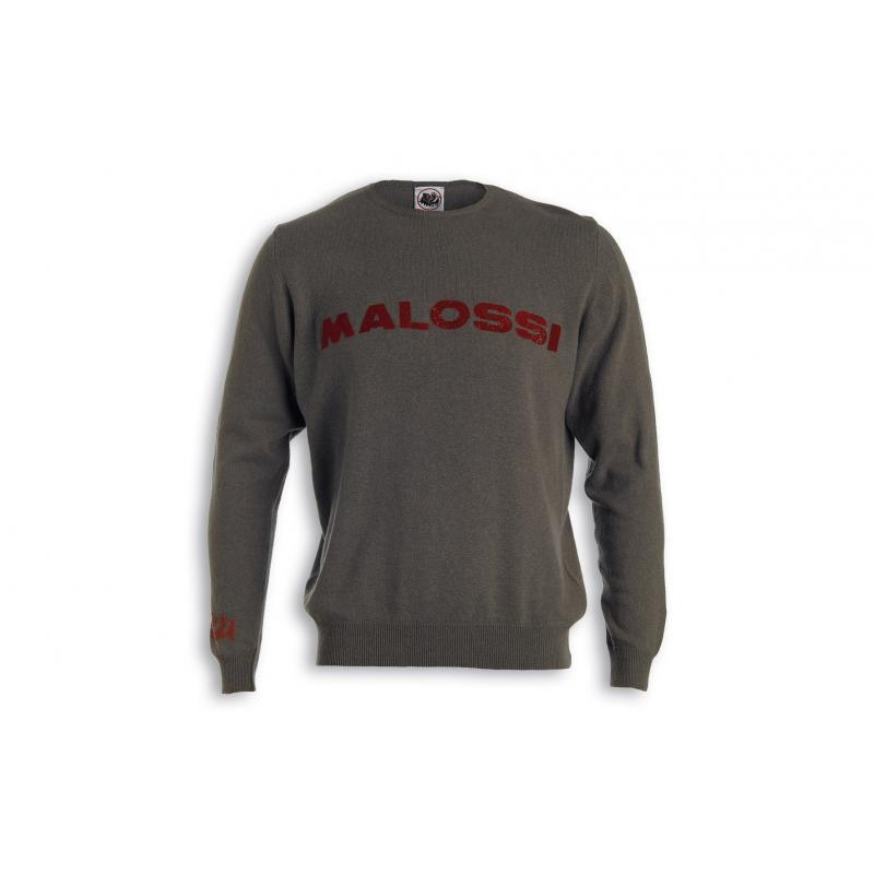 Pull Malossi griffe logo vert
