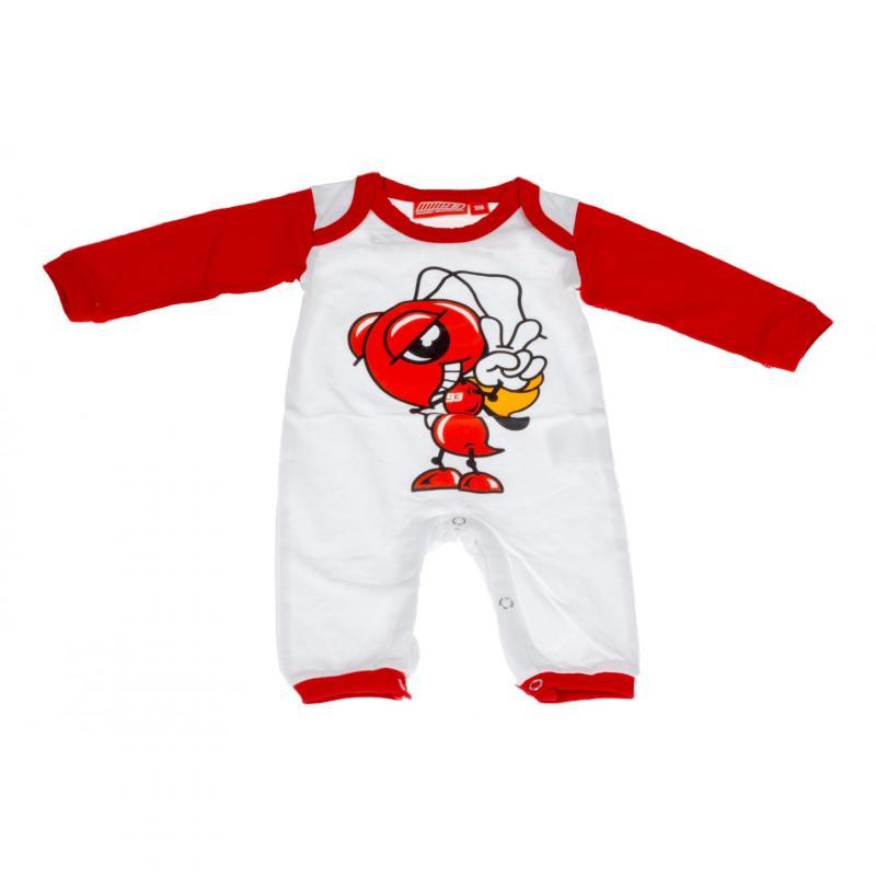 Pyjama bébé Marc Marquez blanc/rouge