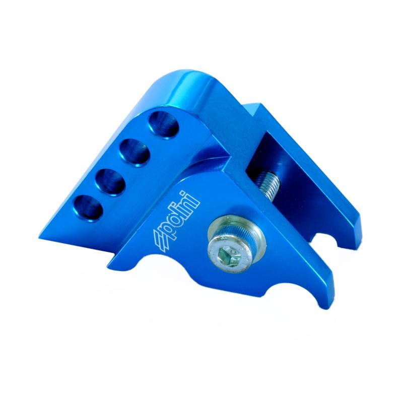 Rehausse amortisseur Polini Yamaha horizontal bleu