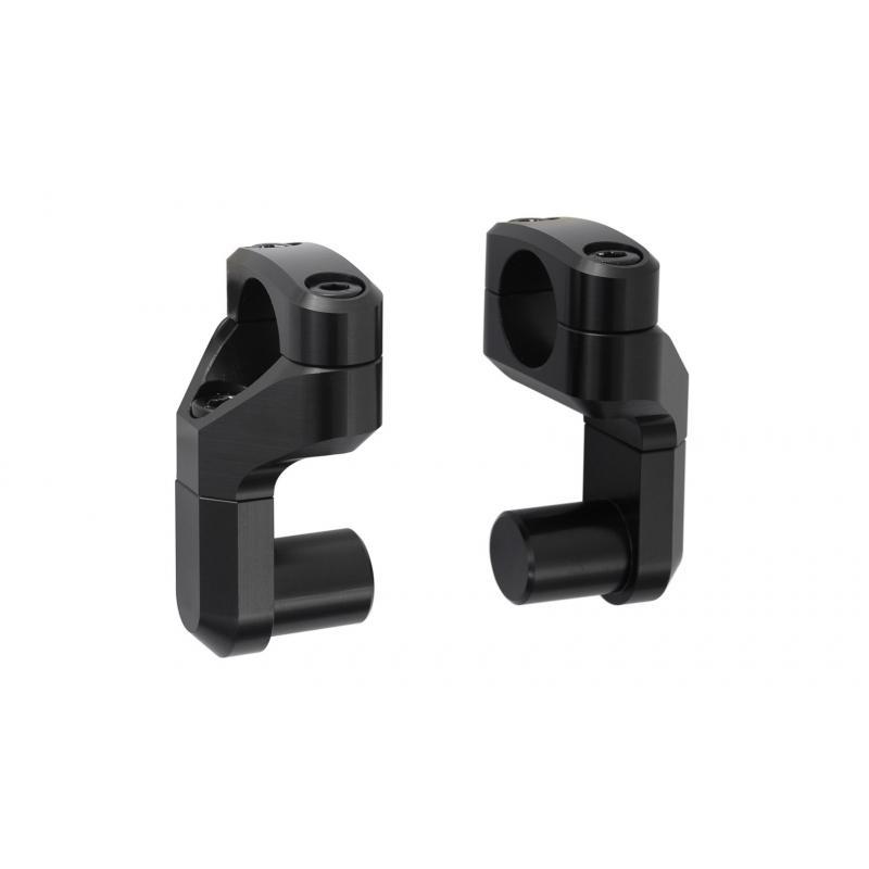 Réhausse de guidon réglable ø22mm noir