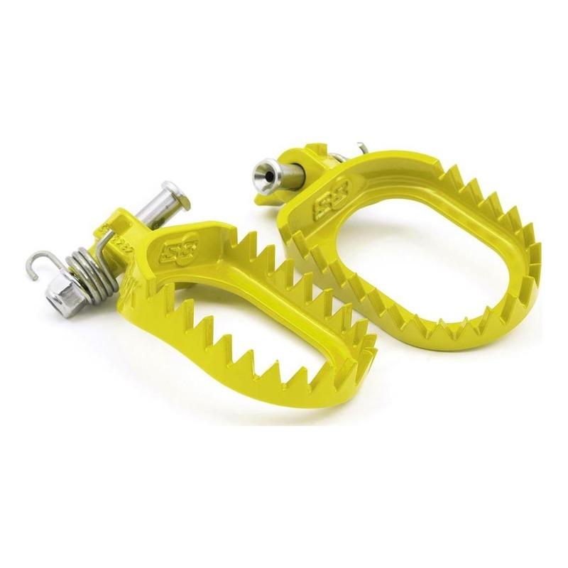 Repose-pied racing S3 Punk acier jaune pour Sherco 125 / 250 SE-R