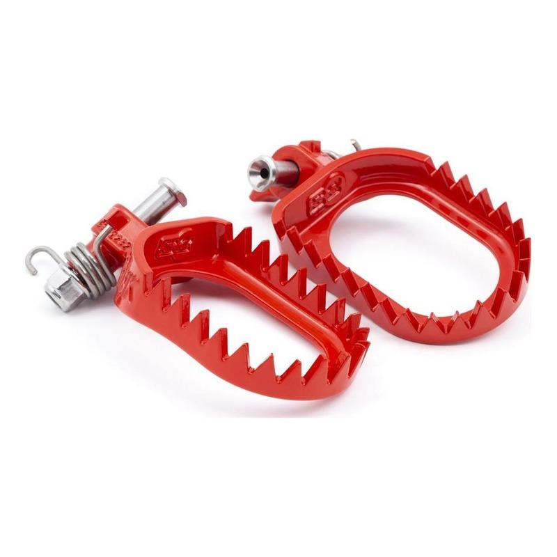 Repose-pied racing S3 Punk acier rouge pour Beta 250 RR / Gas Gas EC 250 F