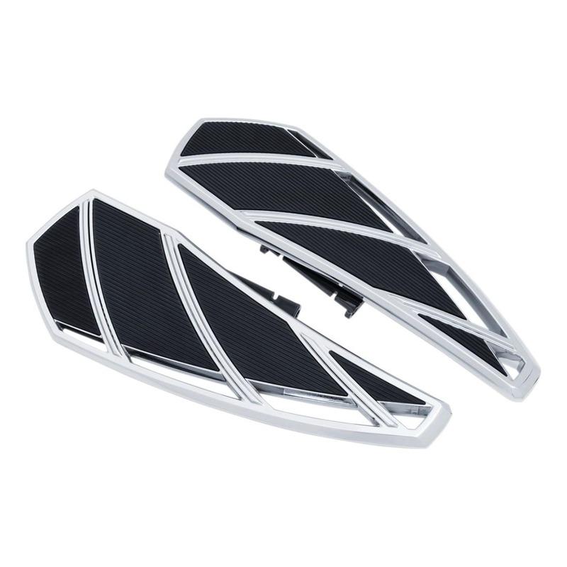 Repose pieds plateau Phantom Kuryakyn Harley Davidson Softail 18-20 chrome