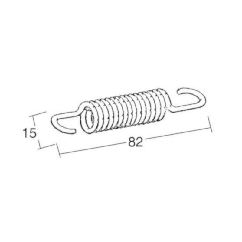 Ressort 82mm pour bequille centrale 445921, 445905 445906, 445903