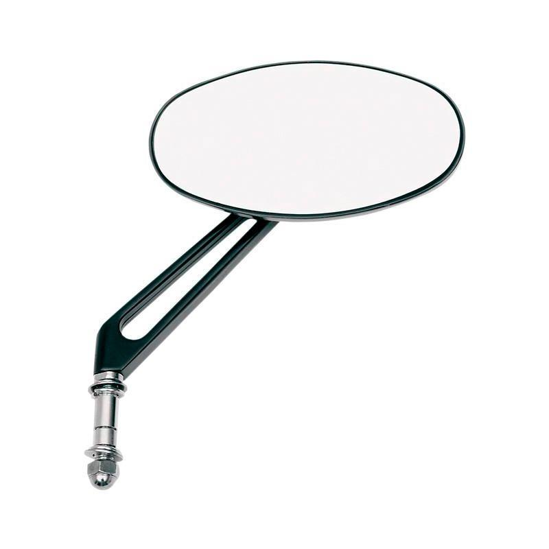 Rétroviseur ovale Stealth Drag Specialties réversible tige 12 cm noir