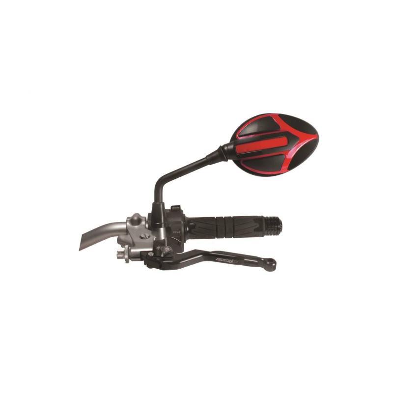 Rétroviseur réversible homologué Chaft Candy noir/rouge