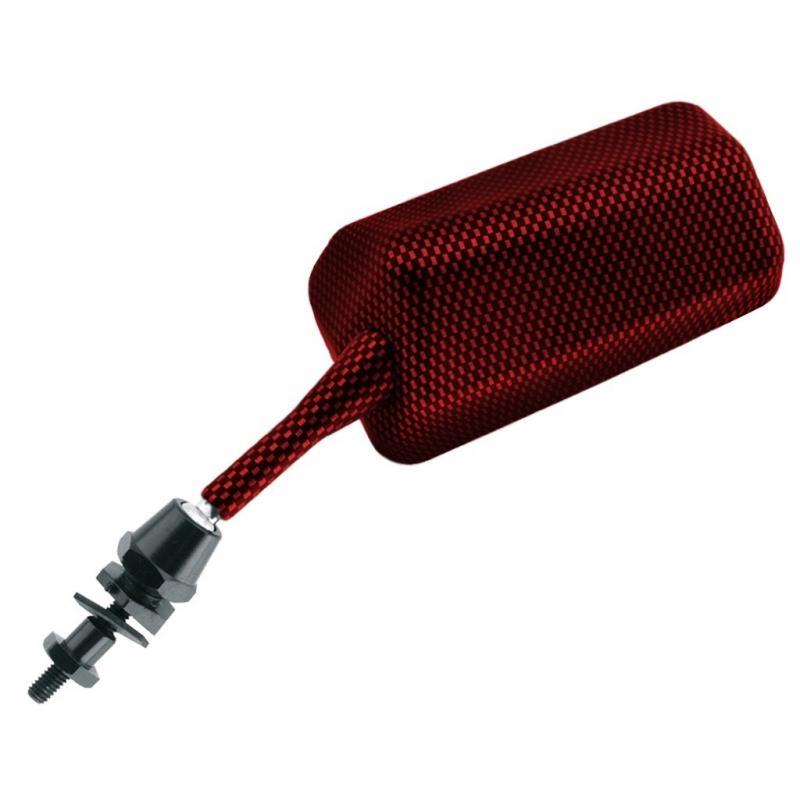 Rétroviseurs de carénage Vicma rectangulaire F1 rouge (paire)