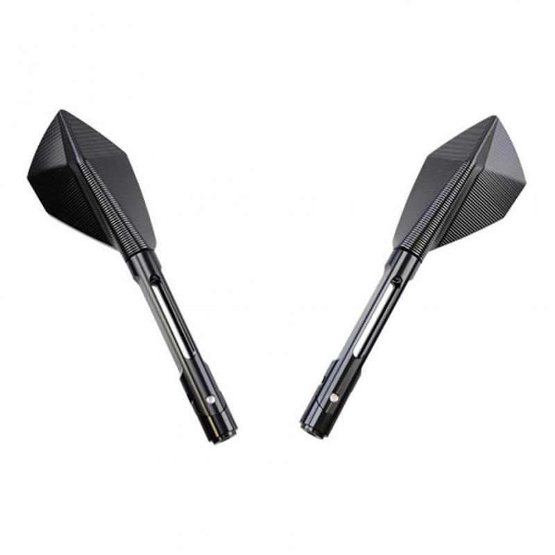 Rétroviseurs Echo CNC long noir/titane (paire)