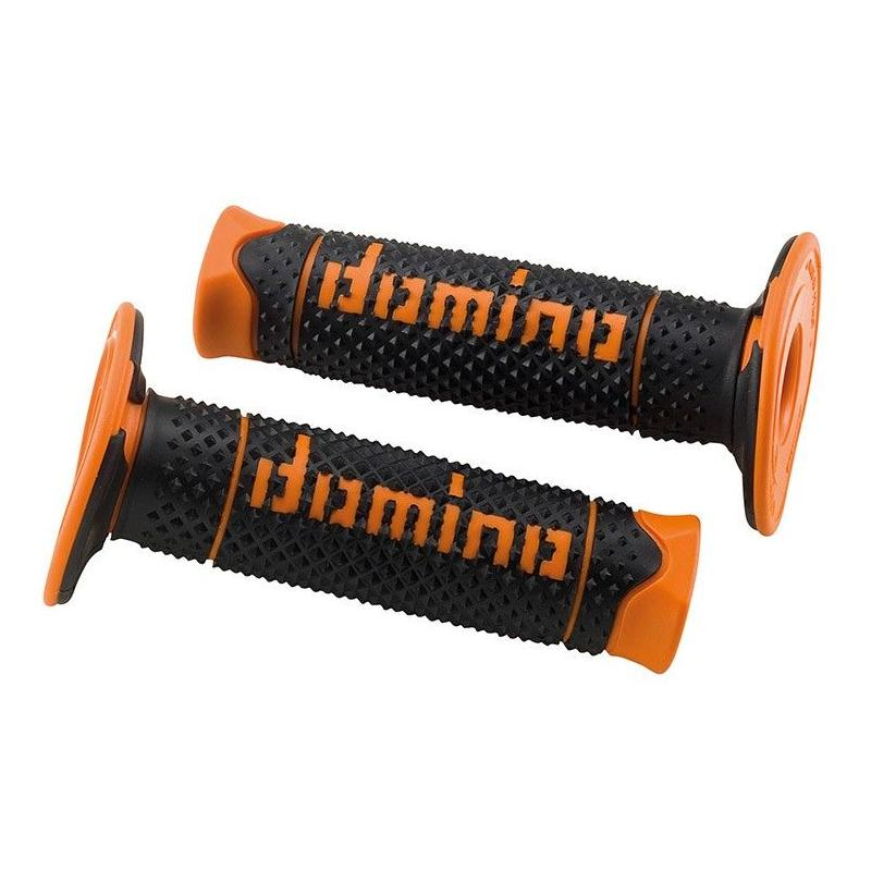 Revêtements de Poignée Domino Cross/Enduro Noir/Orange