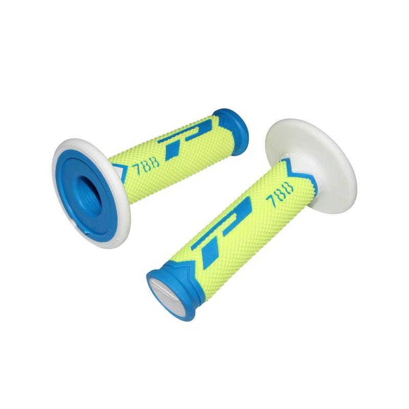 Revêtements de poignée Progrip 788 bleu/jaune fluo/blanc