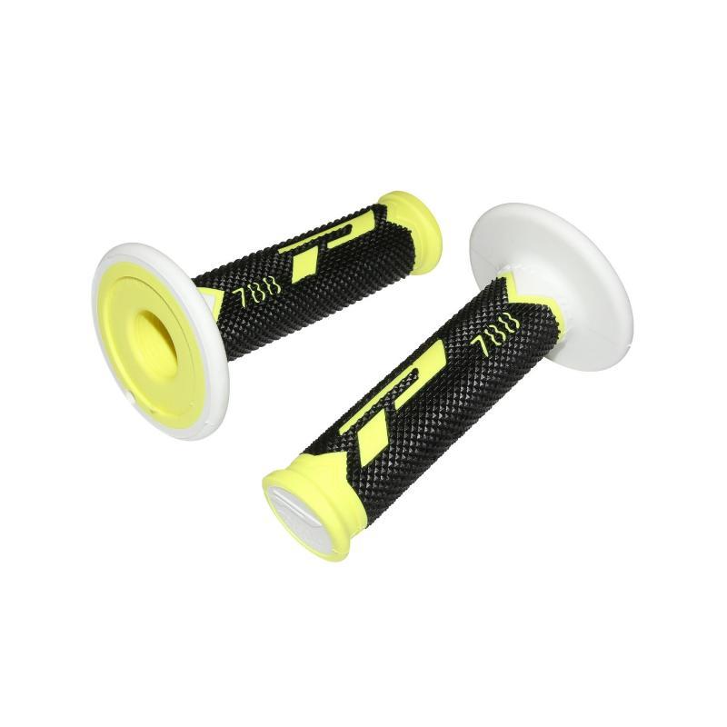 Revêtements de poignée Progrip 788 jaune fluo/noir/blanc