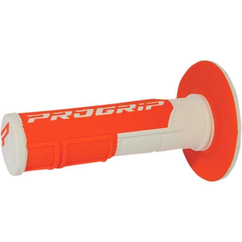 Revêtements de poignée Progrip 801 Closed end blanc/orange fluo